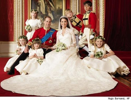 Royal wedding 2011 official portrait of prince william the duke of cambridge catherine middleton the duchess of cambridge by photographer hugo burnand