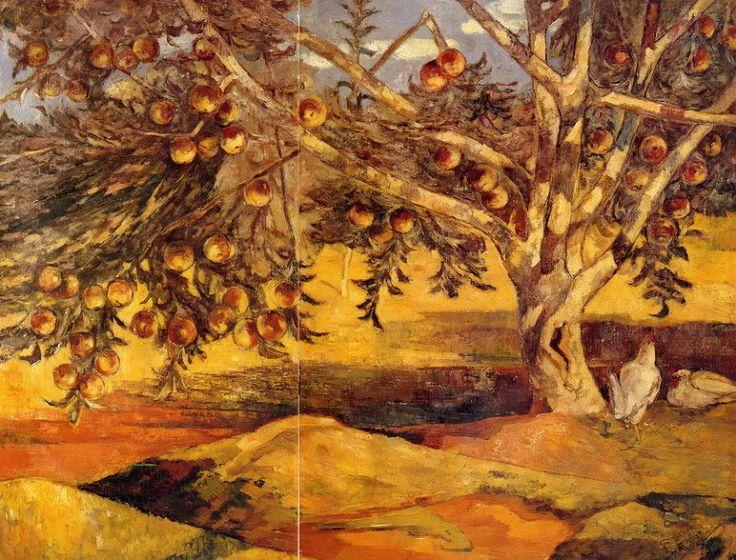 <사과나무> 91 x 116.5cm, 이인성 作