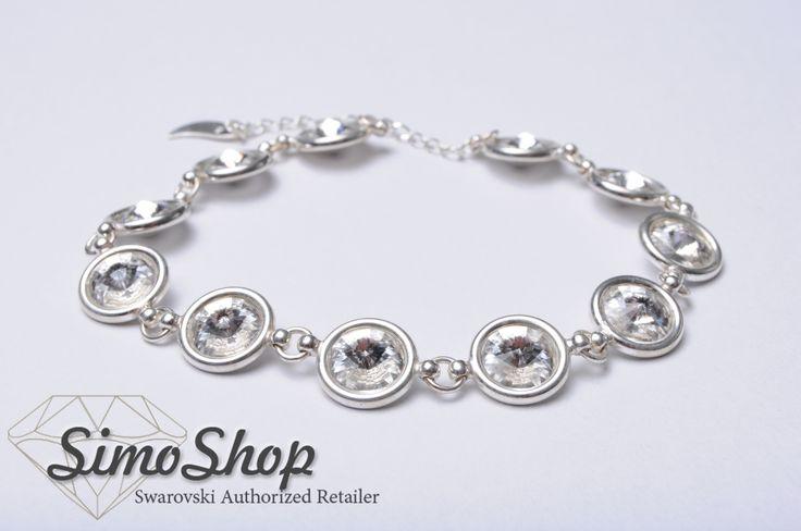 Brățară din argint 925 cu cristale swarovski! #swarovski #argint #bijuterii #simoshop