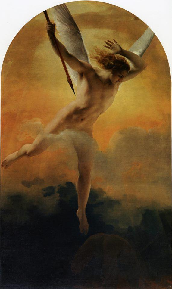 """""""Saint Michael the Archangel"""" by Francesco Hayez, 1838"""