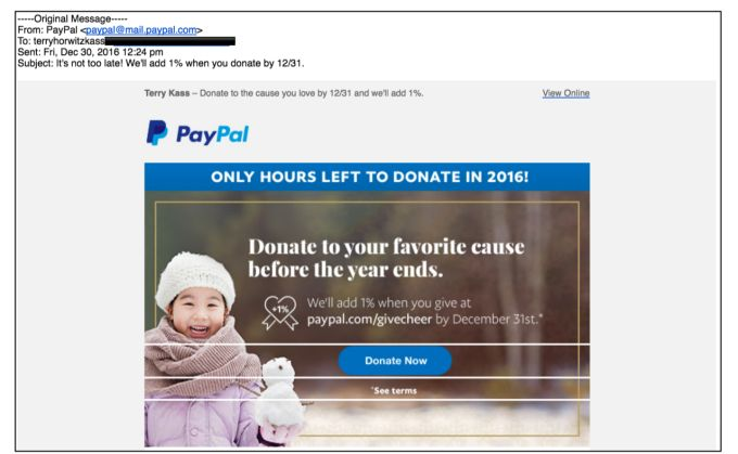 Class Action lawsuit alleges PayPal diverts charitable donations from intended recipients misleads consumers | Via - TechsNGeek.com