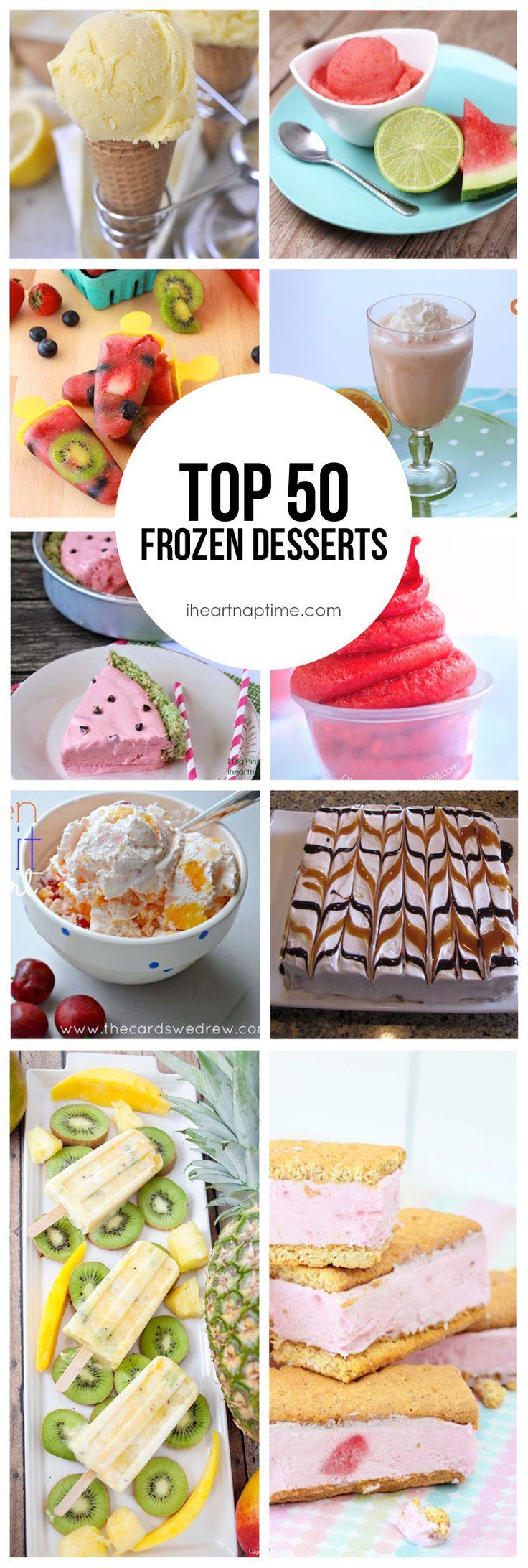 Top 50 Frozen Desserts on iheartnaptime.com