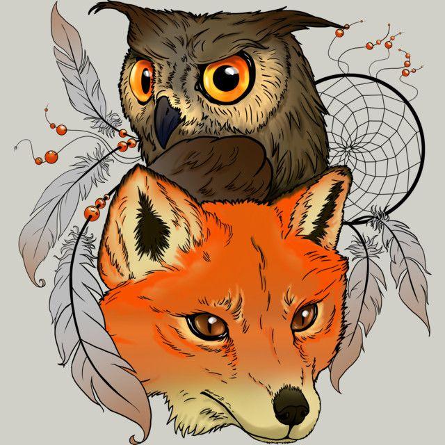 Смешные картинки лиса и сова