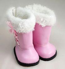 Yeni Varış Amerikan Kız Için Sevimli Pembe Çizmeler Moda 18 Inç Bebek Bebek Aksesuarları Ayakkabı(China (Mainland))