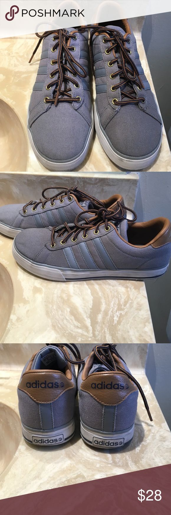 Adidas Ortholite Neo Worn once, perfect condition, grey with brown Adidas Shoes Sneakers