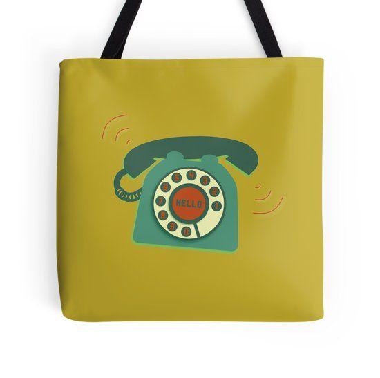Retro Telephone #retro #phone #bag