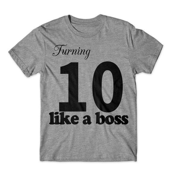 Celebrate your ten year olds birthday like a boss with this one of kind, exclusive Turning 10 like a boss big kids birthday shirt.  Who knows Rick Ross