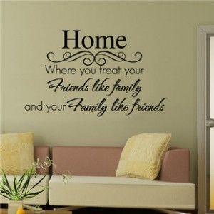 Home Friends Family Quote Decor Art Wall Sticker
