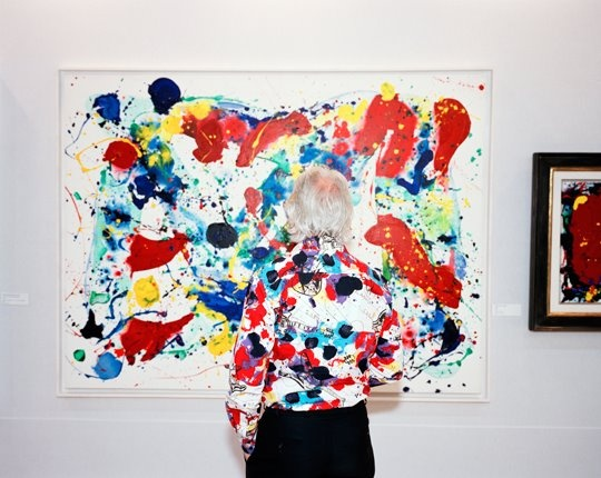Martin Parr. An abstract colourful piece of art that is similar to that of the shirt pattern. love the vibrant colour and white background the image has.