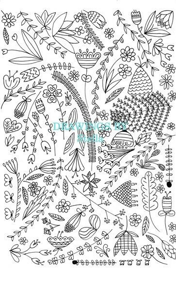 Garden design coloring page. Go have a look on our page for some FREE printable adult coloring pages!  https://drawingsbystella.com/