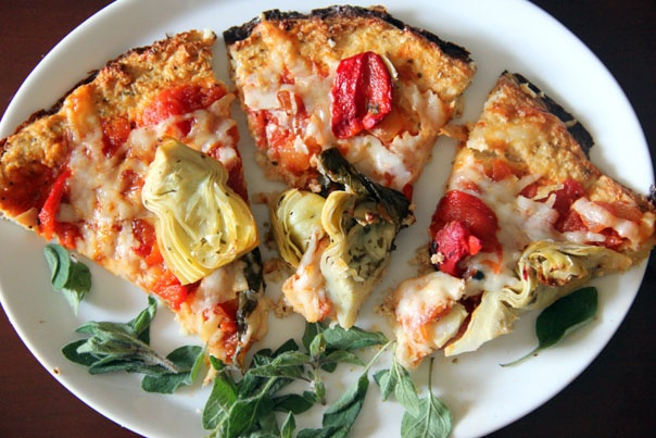 Recipe: Cauliflower Crust Pizza...this is a great substitute for crust!