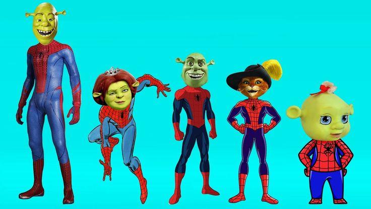 Shrek Spiderman Finger Family Songs | Top 10 Finger Family Collection | Finger Family Songs