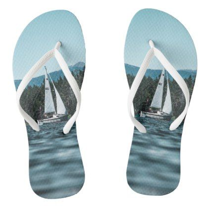 2d54afd0e1b4 Sailboat Flip Flops -  womens  shoes  womensshoes  custom  cool ...