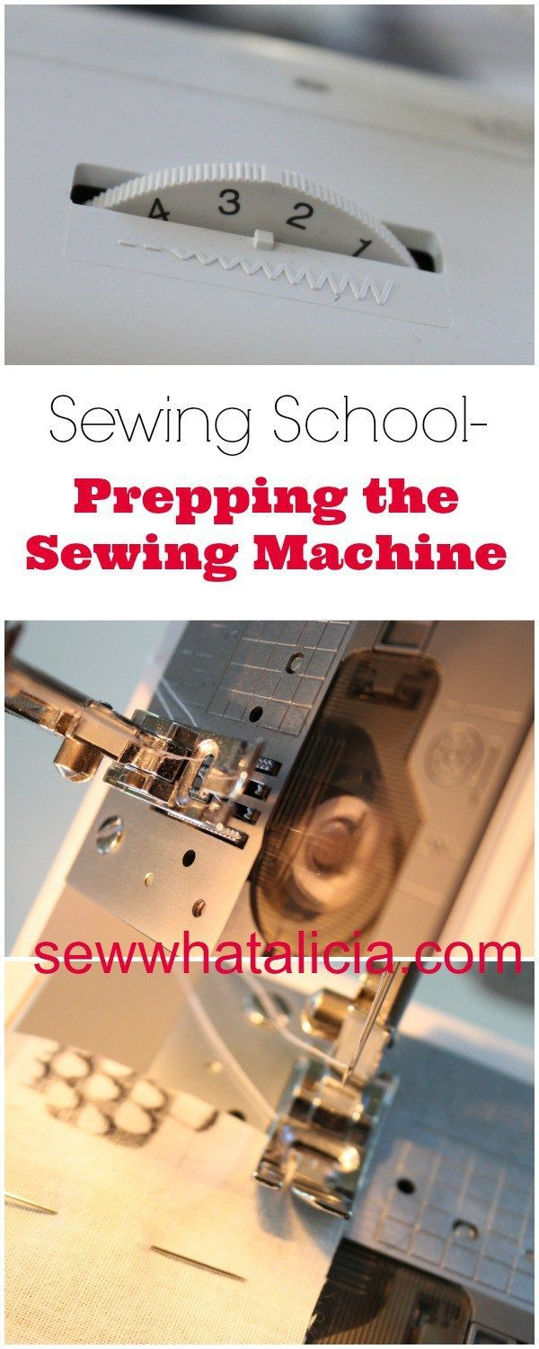 Sewing School - Prepping the Sewing Machine - When you are new to sewing it can be so intimidating! Here is all you need to know about getting your machine ready for sewing! Click through for the full tutorial. www.sewwhatalicia.com