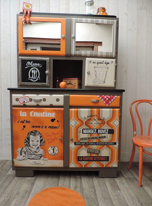 buffet mado meuble peint meuble vintage meuble rtro peinture sur meuble - Meuble Mado Renove