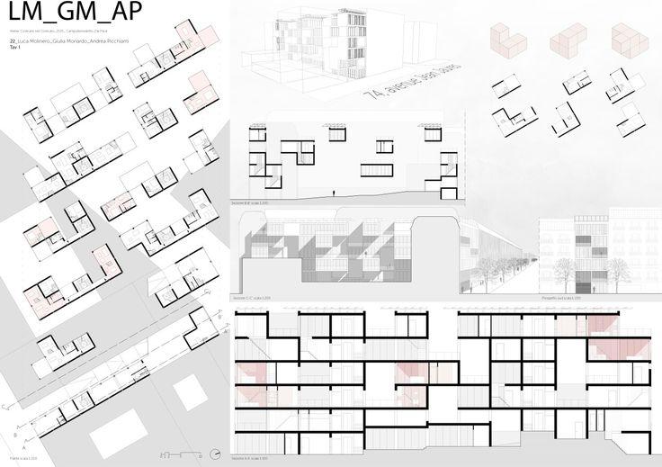 Politecnico di Torino   Tavola1  Progetto per lotto gotico nel quartiere de La Villette, Parigi