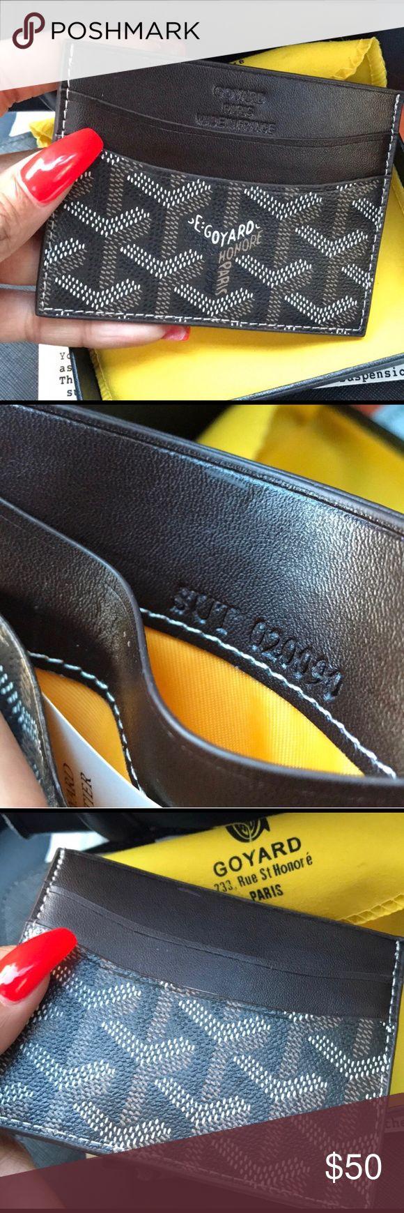 GoYard Card Holder Brown leather GoYard Card holder Goyard Accessories Key & Card Holders