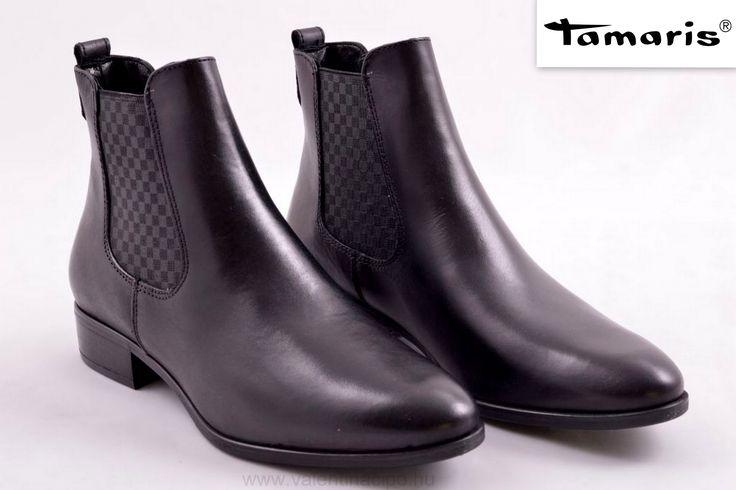 Mai napi Tamaris bokacipő ajánlatunk divatos és elegáns :)  http://valentinacipo.hu/tamaris/noi/fekete/bokacipo/146152141  #Tamaris #tamariscipő #bokacipő #Valentinacipőboltok