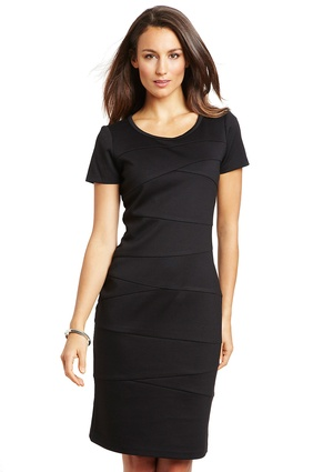 JONES NEW YORK Asymmetrical Seams Shift Dress
