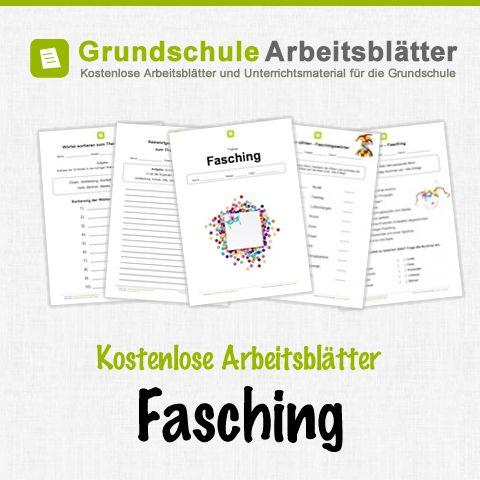 Kostenlose Arbeitsblätter und Unterrichtsmaterial zum Thema Fasching in der Grundschule.