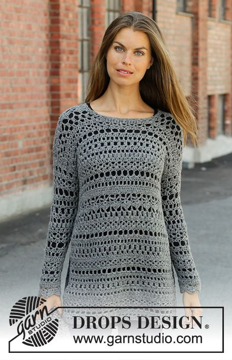 d346361bd Free Crochet Pattern for a Sweater Grey Sparrow