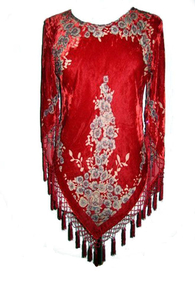 Chic Western Wear For Women | Boho Chic Burntout Beaded Top Boho Chic Burntout Beaded Top Boho Chic ...