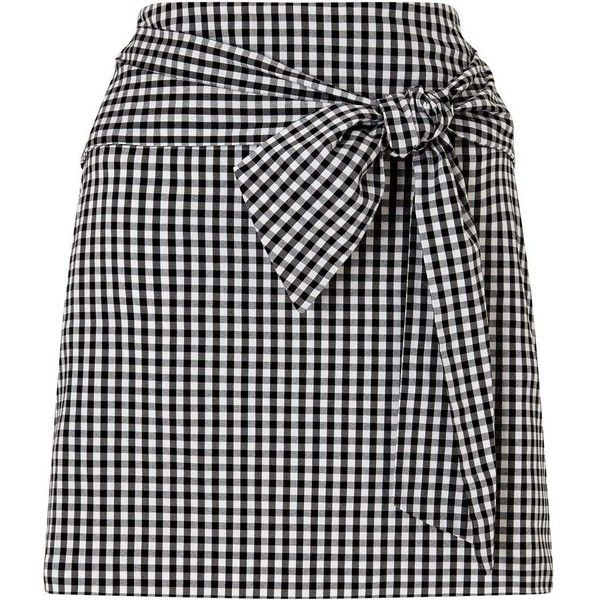 Miss Selfridge Gingham Poplin Skirt (£44) ❤ liked on Polyvore featuring skirts, assorted, gingham skirt, miss selfridge, miss selfridge skirts and poplin skirt