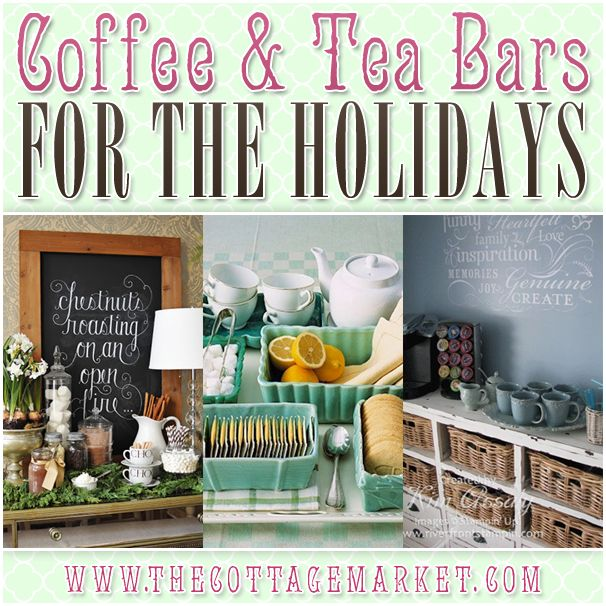 If you are looking for some great inspiration and tons of ideas for creating Coffee and Tea Bars for the Holidays you have come to the right place today!