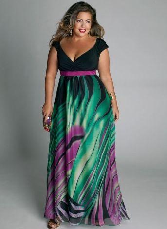 Muflas comportarse y: vestidos de moda de talla grande