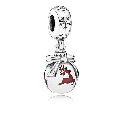 This classic Christmas bauble, decorated with prancing reindeer silhouettes, will make the spirit of the holiday season come alive on your bracelet and evoke memories of your own beautifully decorated Christmas tree. #PANDORA #PANDORAcharm