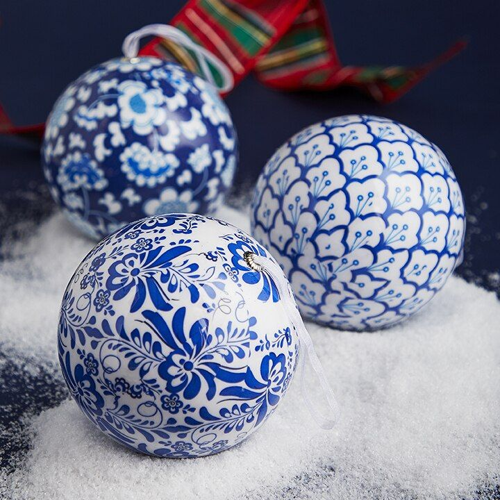 Raz 4 75 Blue And White Chinoiserie Delft Ball Christmas Ornament 3901816 Unique Christmas Ornaments Christmas Ornaments Christmas Ornaments To Make