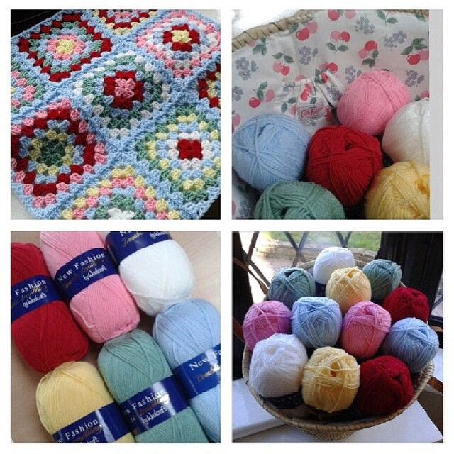 Cath Kidston inspired yarn pack. 12 x New Fashion Dk £15.00 plus postage. UK £2.95, Europe £9.95 and rest of the world £11.95. 12 balls will make a single bed size blanket. To order email sales@mycraftlife.co.uk