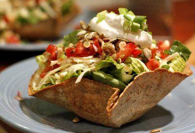 The Chubby Vegetarian: Taco Salad with Black Beans, Toasted Pepitas, & Corn Succotash