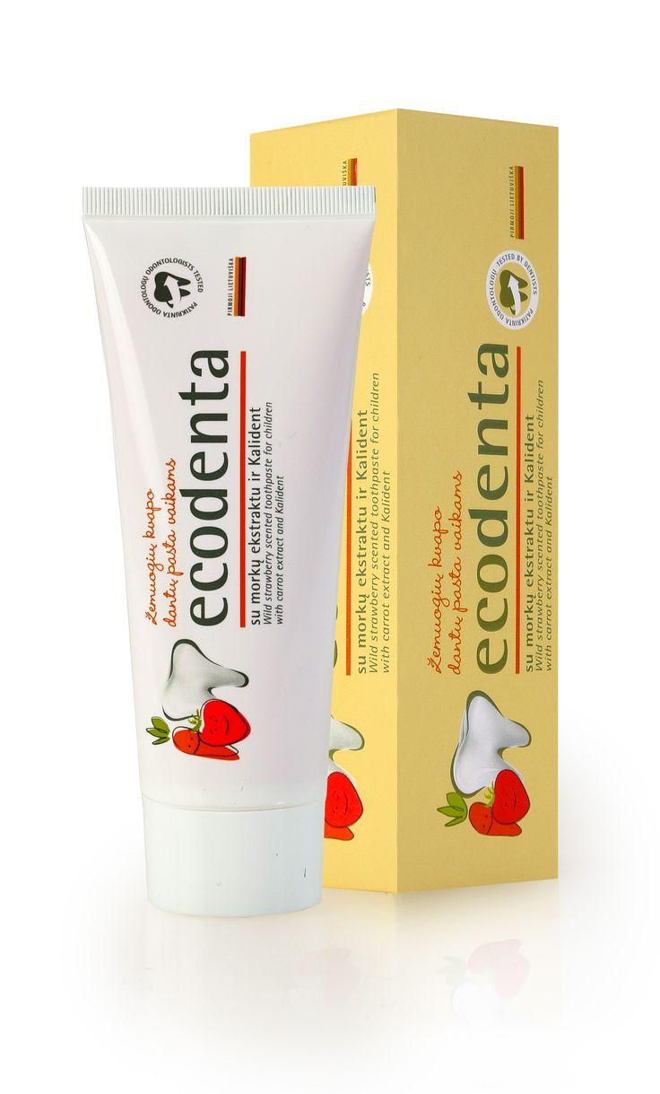 ECODENTA Poziomka EKO KIDS- Naturalna pasta do zębów dla dzieci o smaku poziomki