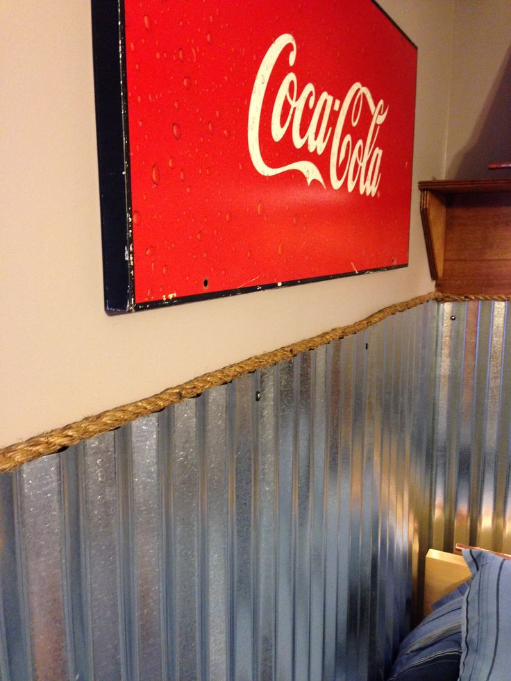 Teen Boy S Room Industrial Coke Corrugated Metal