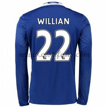 Chelsea Fotbalové Dresy 2016-17 Willian 22 Domáci Dres Dlouhým Rukávem