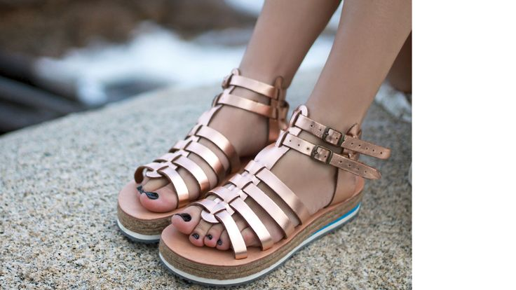 BRONZE sandals. Made in Greece.  #apigania  find them here: www.esiot.gr