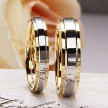 Divat 925 Ezüst Gyűrűk szerelmeseinek 18K Aranyozott Classic Couple Esküvői Gyűrűk Női ékszer (Kína (szárazföld))