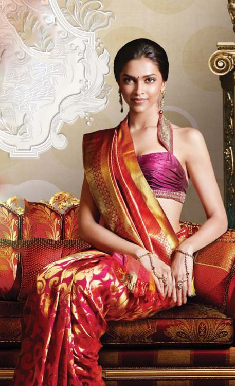 Deepika in Traditional saree — #silksaree #indianfashion #deepikapadukone #saree #sari #blouse #indian #outfit #shaadi #bridal #fashion #style #desi #designer #wedding #gorgeous #beautiful