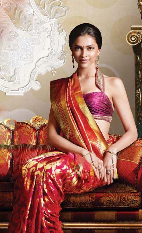 IT'S PG'LICIOUS — #silksaree #indianfashion #deepikapadukone