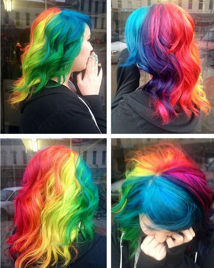 Rainbow hair..