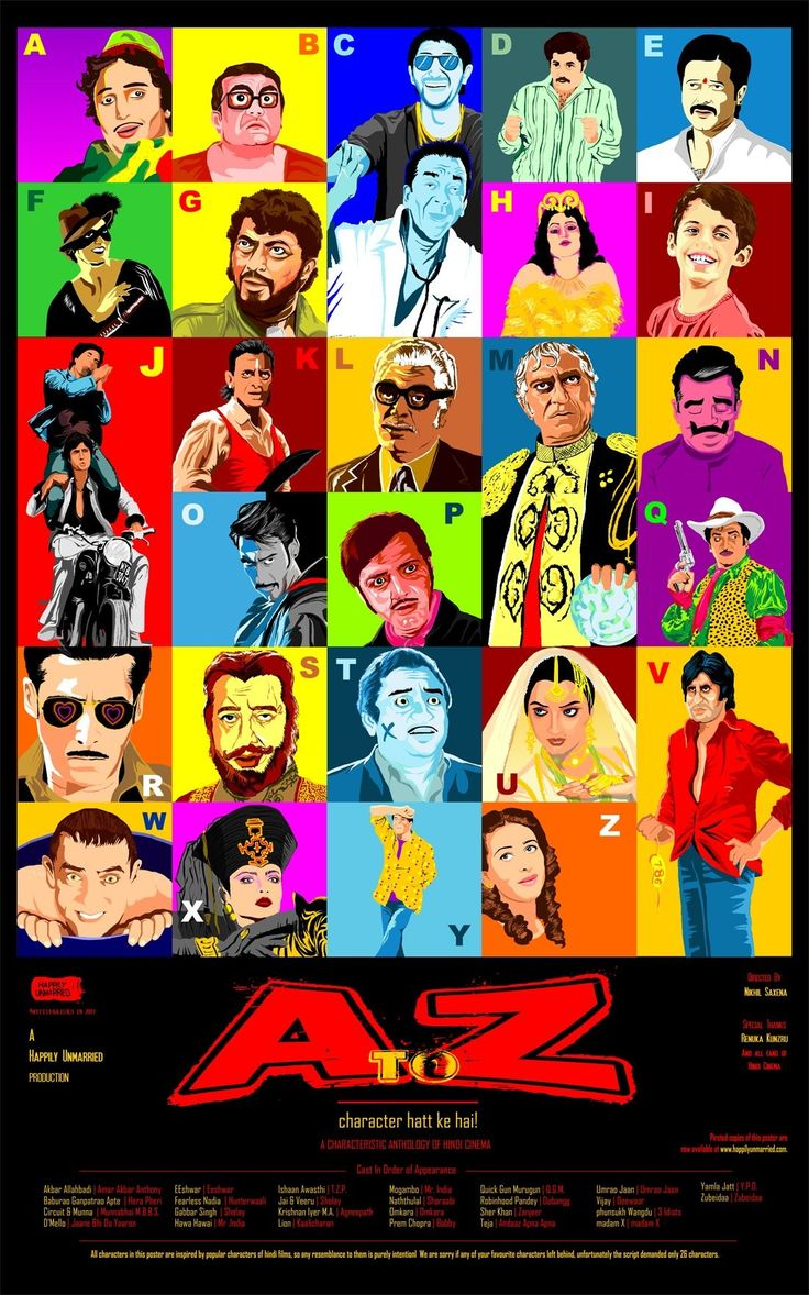 Collage of famous bollywood characters! Very cool!