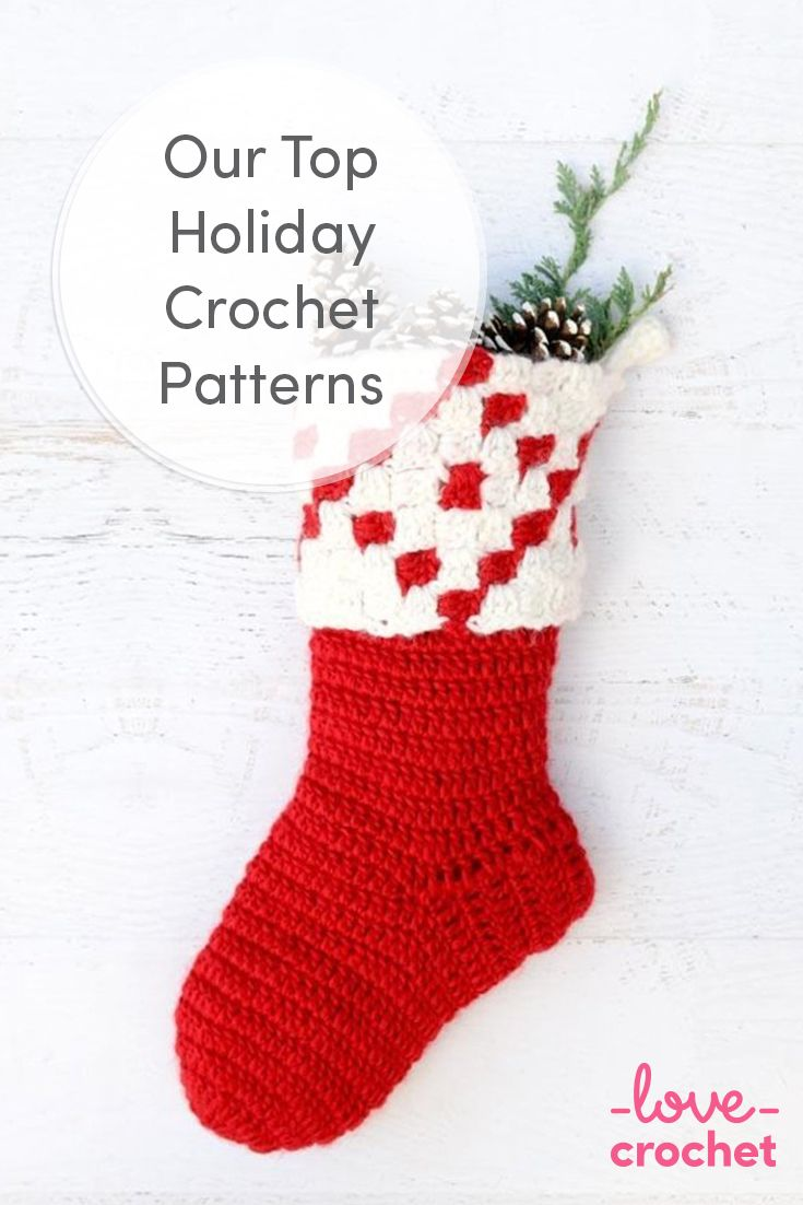 120 best crochet patterns for christmas images on pinterest find that perfect crochet stocking pattern and all manner of other christmas crochet items from crochet trees to socks and decorations bankloansurffo Image collections