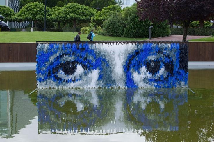 """""""Le regard d'Albert Einstein"""" de Dejoie Robin (Land Art du Futuroscope)"""