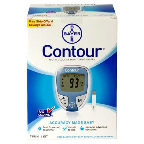 Blood+Glucose+Meter+1+Ea+By+Bayer+Included+10+Test+Strips-+Bayer+Contour
