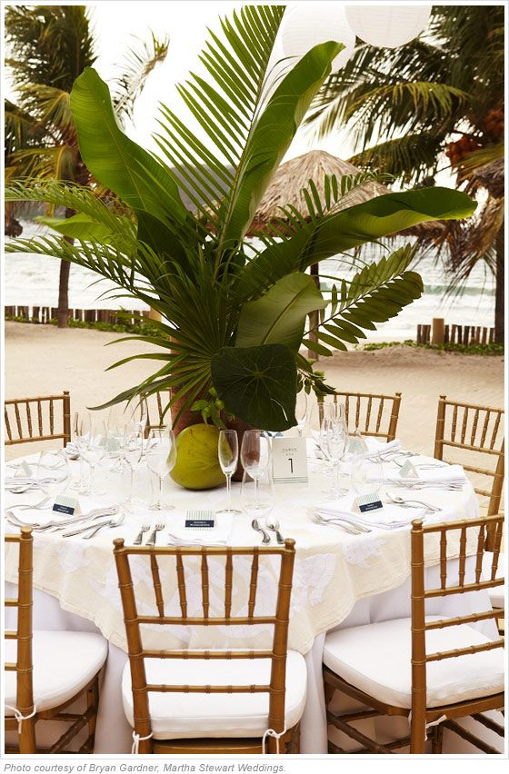 Caribbean wedding caribbean party ideas and decorations for Palm tree decorations for the home