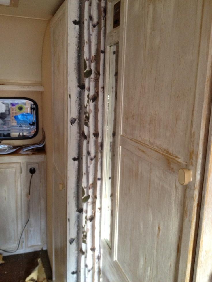 50 best my little caravan images on pinterest for Distressed wood interior doors