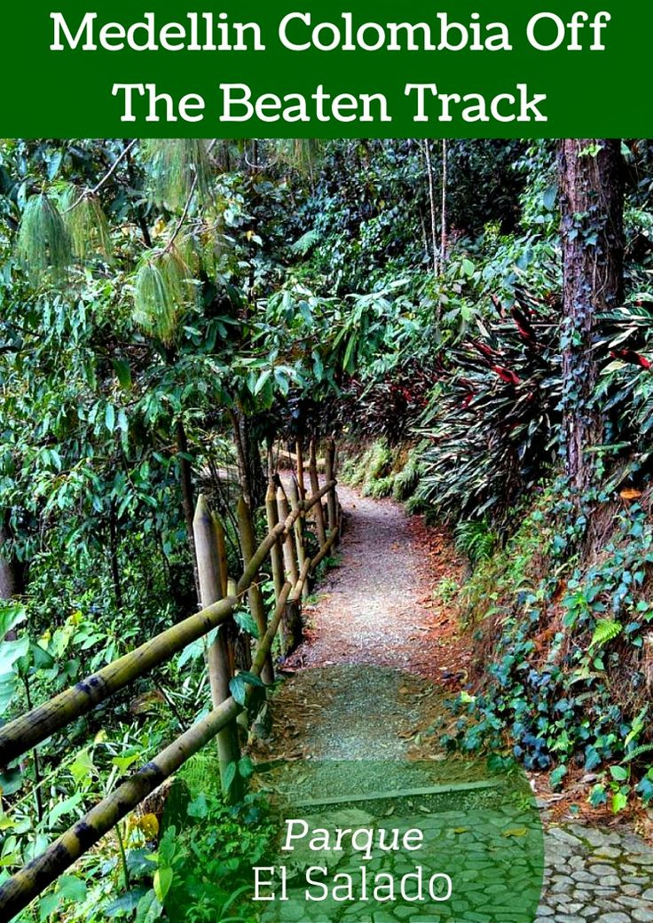 Medellin Colombia off the beaten track - Parque El Salado. This beautiful serene park is in a quiet area just outside of the city. Wonderful walking paths and places to stop along the river and even make your own traditional soup! Click and find out more  @venturists