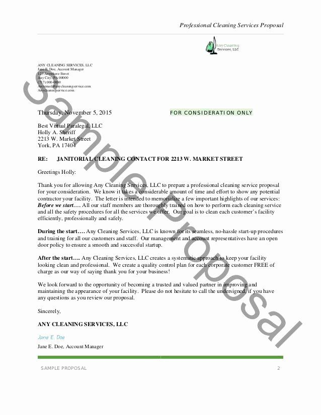Proposal For Cleaning Services Pdf Luxury 12 Cleaning Proposals For Restaurants Cafe Free Business Proposal Template Proposal Letter Business Proposal Examples