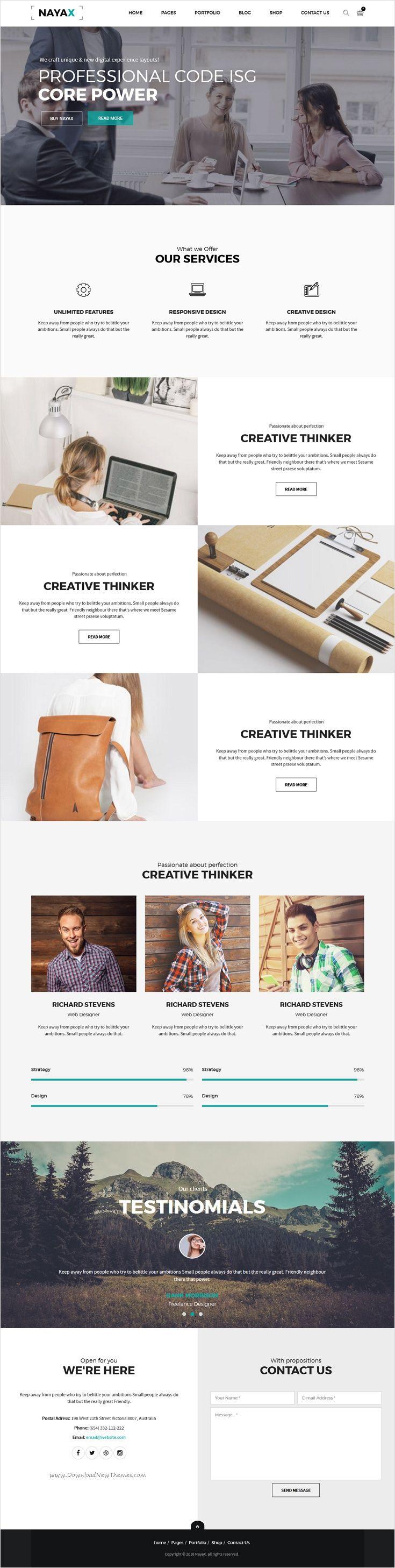 Nayax is beautifully design 12 in 1 responsive #WordPress theme for multipurpose…